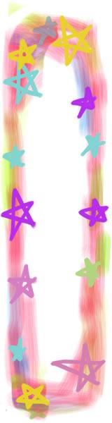フリー素材:バナー広告:160×600pix:ポップで大人かわいい星の飾り枠のwebデザイン素材