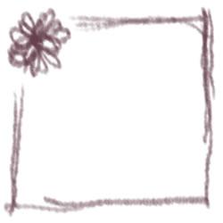 フリー素材:バナー・アイコン:250pix;大人かわいい紫色の花とラインの飾り枠のwebデザイン素材