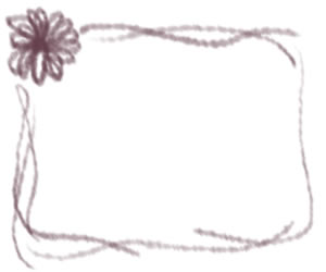 フリー素材:バナー広告:300×250pix;大人かわいい紫色の花とラインのwebデザイン素材