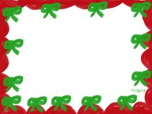 フリー素材:フレーム・飾り枠:640×480pix;大人かわいいリボンと飾り枠のクリスマスのwebデザイン素材