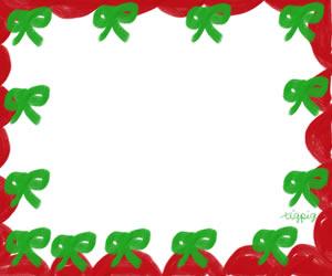 フリー素材:バナー広告:300×250pix;大人かわいいリボンと飾り枠のクリスマスのwebデザイン素材