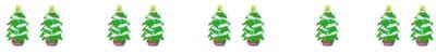 フリー素材:飾り罫・罫線:大人かわいいクリスマスツリーのイラストのwebデザイン素材