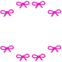 フリー素材:バナー・アイコン:200pix;ピンクのリボンと大人かわいいラインのバナー広告の素材