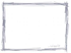 ネットショップ、webデザインのフリー素材:ブルーグレーのシンプルな鉛筆風ラインの大人かわいい飾り枠