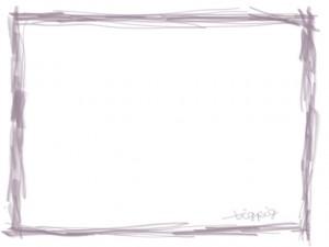 ネットショップ、webデザインのフリー素材:薄紫色のシンプルな鉛筆風ラインの飾り枠。大人かわいいフレームのwebデザイン素材