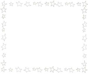 バナー広告、webデザインのフリー素材:ブラウンブラックの大人かわいい星のフレーム(飾り枠);300×250pix
