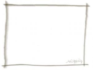 ネットショップ、webデザインの飾り枠のフリー素材:ブラウンブラックの大人かわいい鉛筆風ラインの囲み枠のフレーム