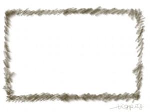 ネットショップ、webデザインのフレーム素材:大人かわいいブラウンブラックの鉛筆風のファーみたいな模様の飾り枠