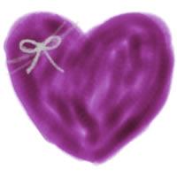 バナー広告、アイコンのwebデザイン素材:薄紫色のシンプルなハートとりぼんの大人かわいいイラスト。ネットショップ制作のフリー素材