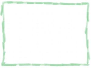 webデザインの飾り枠・フレーム素材:パステルカラーの色鉛筆風のラフな飾り枠(640×480pix)