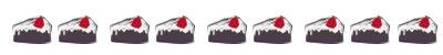 ネットショップ、webデザインのフリー素材:大人かわいい苺チョコレートケーキのイラストの飾り罫