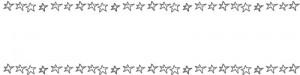 ネットショップ、webデザインのフリー素材:手描きのシンプルなモノクロの星の飾り枠のヘッダー画像