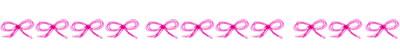 オンラインショップ、webデザインの飾り罫:大人可愛いピンクのりぼんいっぱいのイラストの飾り罫(罫線)のフリー素材。