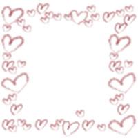 バナー広告、ネットショップ、アイコン制作のwebデザイン素材:大人可愛いくすんだピンクのハートいっぱいの飾り枠のフリー素材