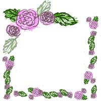 ネットショップ、バナー広告ののフリー素材:ラブリーなピンクのバラの飾り枠。webデザインのアイコン(twitter,mixi,ブログ)制作に。
