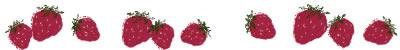 ネットショップ、webデザインの飾り罫のフリー素材:大人可愛いイチゴのイラストの飾り罫