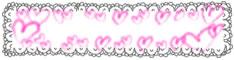 バナー広告、webデザインのフリー素材:大人可愛いハートとレースの飾り枠のハーフバナー広告(234pix×60pix)