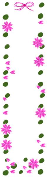 ネットショップ、webデザインのフリー素材:春らしい桜とガーリーな緑の水玉の飾り枠。バナー広告制作のwebデザイン素材(フリー素材160×600pix)