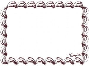 バナー広告、webデザインのフリー素材:茶色のクリームみたいなレトロな飾り枠。大人かわいいネットショップに。