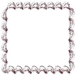 バナー広告、アイコンのwebデザイン素材:スクエアポップアップ(250pix);大人可愛い茶色のクリームみたいなレトロな飾り枠のフリー素材