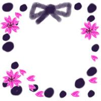 ネットショップ、バナー広告のwebデザイン素材:大人可愛い水玉と桜のアイコンのフリー素材(200×200pix)