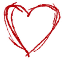 ネットショップ、バナー広告のwebデザイン素材:大人可愛い赤いハート。母の日のアイコン(twitter,mixi)のフリー素材(200×200pix)