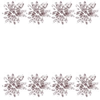 ネットショップ、バナー広告のwebデザイン素材:大人可愛い茶色のレトロな小花の飾り罫(フレーム素材)のアイコン素材(200×200pix)