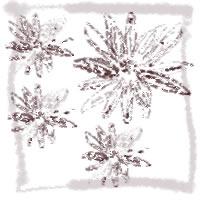 ネットショップ、バナー広告のwebデザイン素材:大人可愛い茶色の小花いっぱいのアイコン(twitter,mixi)素材(200×200pix)