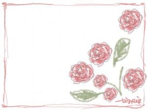 バナー広告、ネットショップのアイコンのwebデザイン素材:大人可愛いピンクの花(薔薇)のフレーム素材(640×480pix)