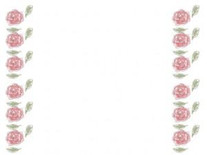 バナー広告、ネットショップのアイコンのwebデザイン素材:大人可愛いピンクの花(薔薇)いっぱいのフレーム素材(640×480pix)