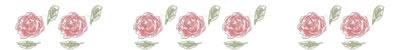 ネットショップ、webデザインの飾り罫のフリー素材:大人可愛い花(薔薇)いっぱいのイラストの飾り罫