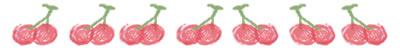 ネットショップ、バナー広告のwebデザイン素材:大人可愛いさくらんぼいっぱいの飾り罫