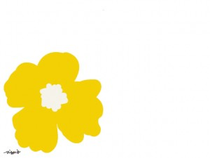 ホームページ、ネットショップ、web制作のwebデザイン素材:大人可愛い黄色の南国風の花のイラストのフリー素材(640×480pix)