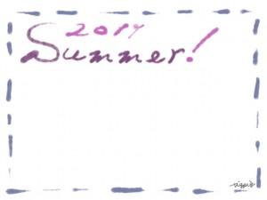 フリー素材:フレーム・飾り枠:640×480pix;大人かわいいブルーのステッチと2011とSummerの手描き文字の飾り枠のwebデザイン素材