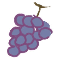 アイコン(twitter,mixi,ブログ)のフリー素材:大人可愛い葡萄(ブドウ)のイラストのガーリーなwebデザイン素材
