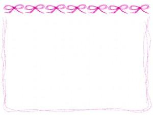 夏のネットショップ、バナー広告、エコ、節電のwebデザインのフリー素材:大人かわい手描きのいピンクのラインとリボンいっぱいのイラスト
