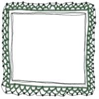 アイコン(twitter,mixi,ブログ)のフリー素材:大人かわいいモスグリーンのガーリーな手編みレースのフレームのイラストのガーリーなwebデザイン素材