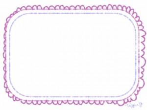 ネットショップ、バナー広告、webデザインのフリー素材:ロマンチックでガーリーなピンクのレースの縁飾りのフレーム