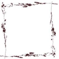 フリー素材:フレーム;アイコン:大人かわいいブラウンの枝と葉と小さな実の北欧風イラストの飾り枠