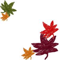 フリー素材:秋のアイコン,バナー制作;大人カワイイくすんだ色のもみじのイラスト;200×200pix