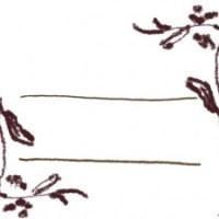 フリー素材:フレーム(バナー広告,メニュー);北欧風のブラウンブラックの木の枝とライン;640×480pix
