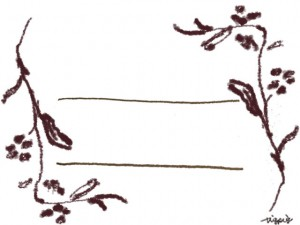 フリー素材:フレームバナー広告,メニュー);北欧風のブラウンブラックの木の枝とライン;640×480pix
