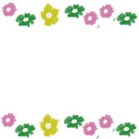 フリー素材:アイコン(twitter);昭和のレトロなデザインの小花の飾り枠のwebデザイン素材