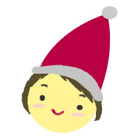 フリー素材:アイコン(twitter,mixi);サンタの帽子の女の子のイラストのwebデザイン素材