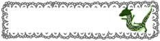 フリー素材:辰のイラストとモノトーンのガーリーなレースの囲み枠;ハーフバナー234×60pix