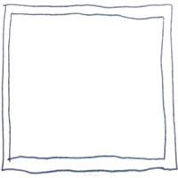 フリー素材:アイコン(twitter);モノトーンの鉛筆の手描きのラフなラインのシンプルなフレーム;200×200pix