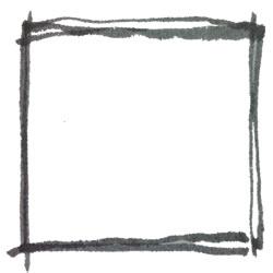 バナー制作のフリー素材:水彩のモノトーンの手描きの飾り枠;スクエアボタン250×250pix