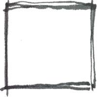 モノトーンのフリー素材:アイコン,バナー(twitter);水彩のラフな手描きラインのフレーム;200×200pix