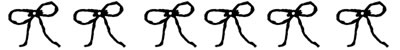 フリー素材:飾り罫;モノクロのリボンいっぱいのレトロで大人かわいい罫線