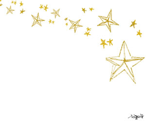 星のフリー素材:バナー広告のフレーム;大人可愛い黄色の星の流れ星みたいなデザインのイラスト;300×250pixミディアムレクタングル